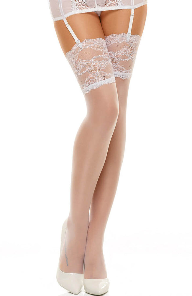 White thigh highs - Romance