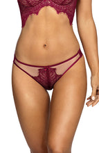 Load image into Gallery viewer, See-through and burgundy panty - ETERNITY