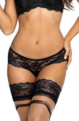 Black lace brazil panty - GUILTY