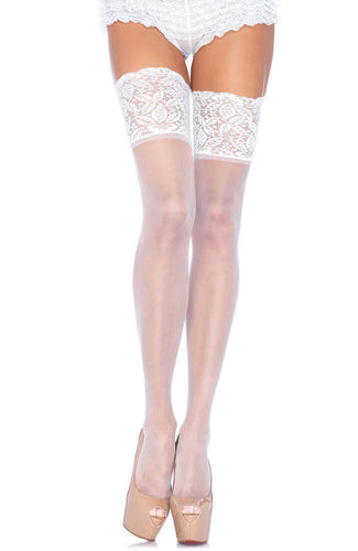 White stay up stockings
