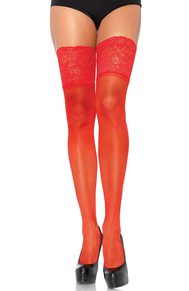 Red stay up stockings