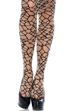 Load image into Gallery viewer, Nude pantyhose with woven crackle pattern