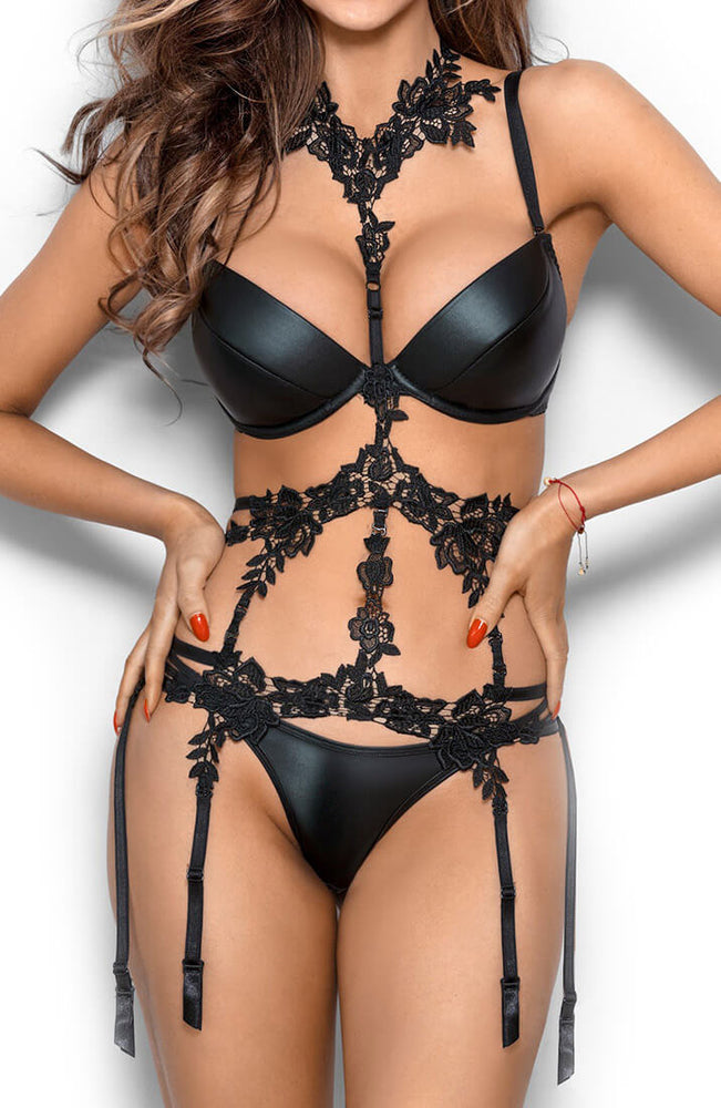 APHRODISIAC - Black lace harness