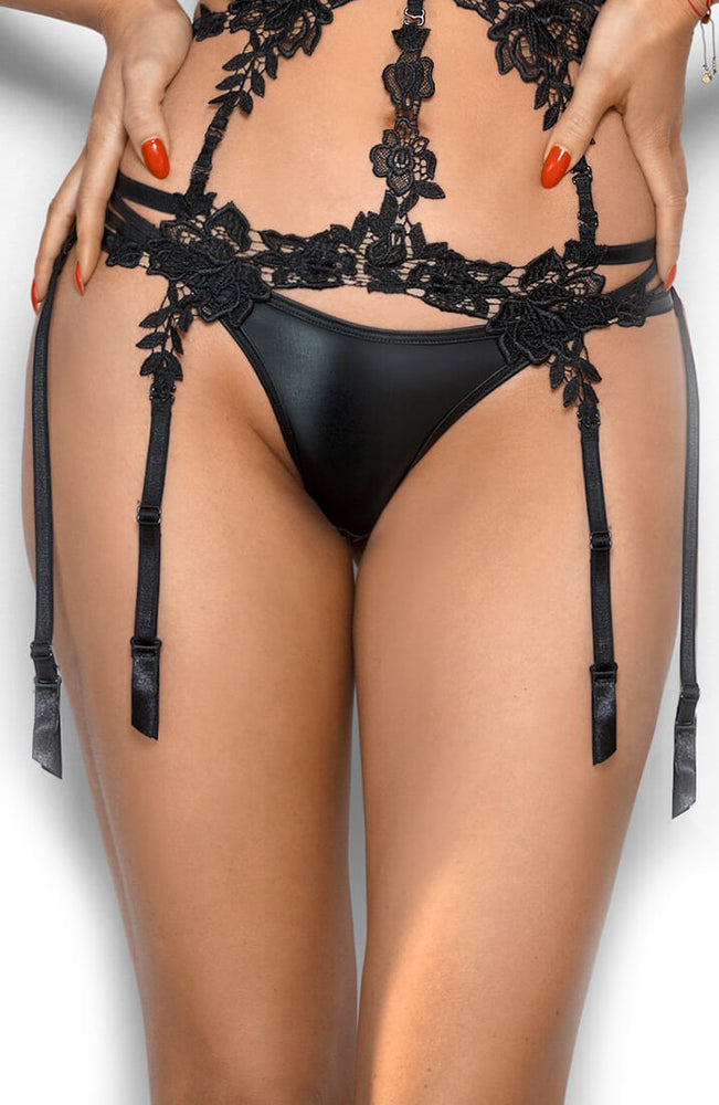 APHRODISIAC - Black wetlook thong