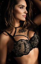 Load image into Gallery viewer, PROVOCATEUR - Black lace push-up bra
