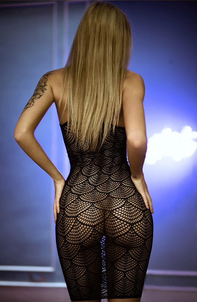 Black shell net mini dress - Play Dress Up