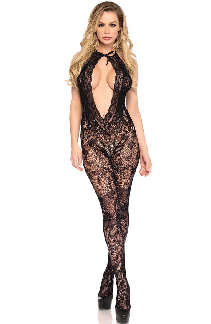 Crotchless lace bodystocking - It's In Your Hands