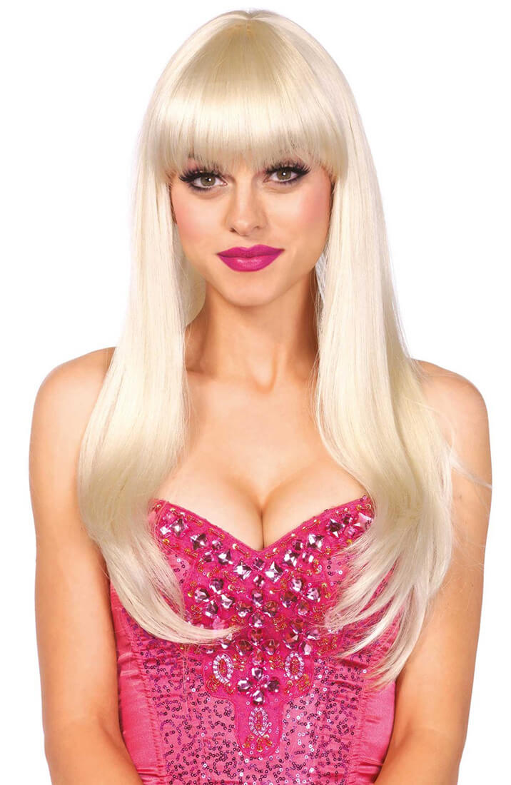 Blonde wig with fringe