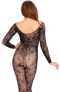 Crotchless bodystocking with sleeves - Just A Fling