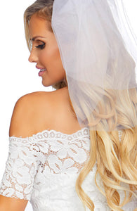 Bridal costume with veil - Tiff The Bride