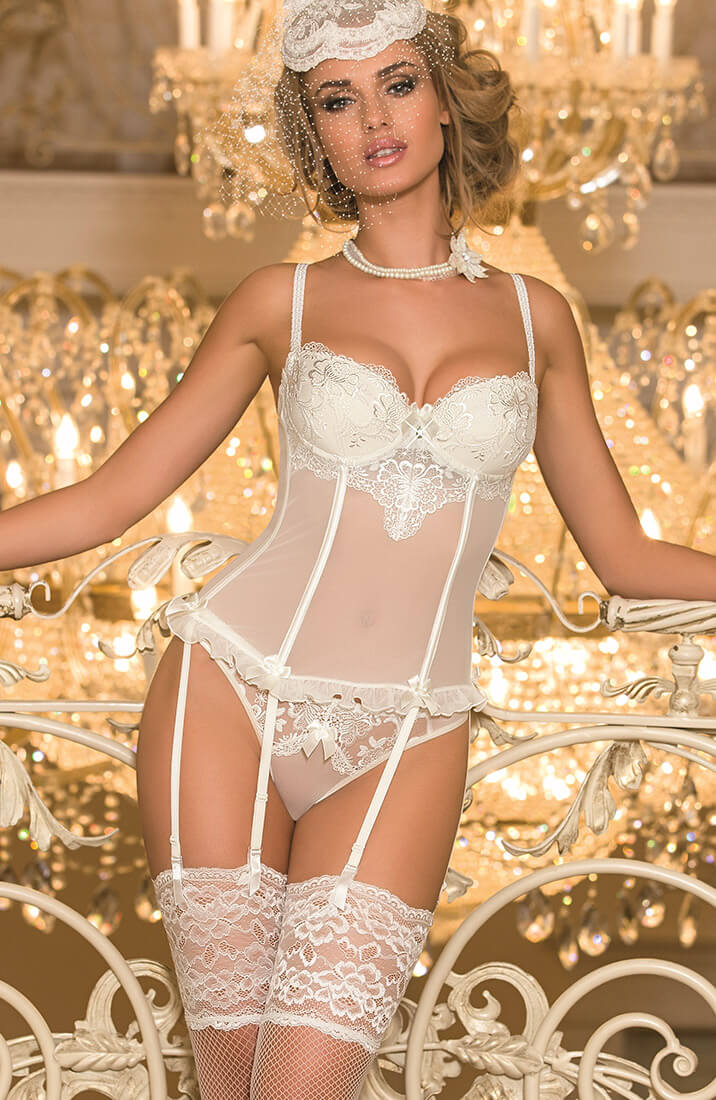 CEREMONY - Ivory bustier corset