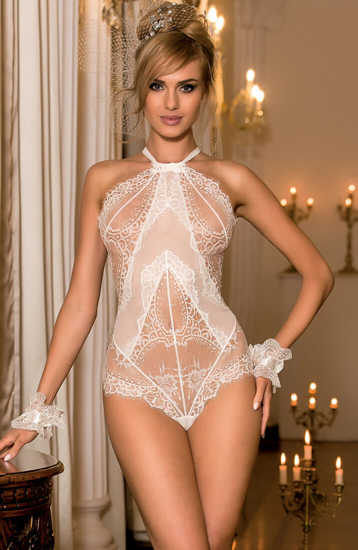 CHAPELLE - Ivory lace teddy