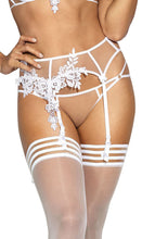 Load image into Gallery viewer, ELEGANCE - Transparent garter belt with white lace