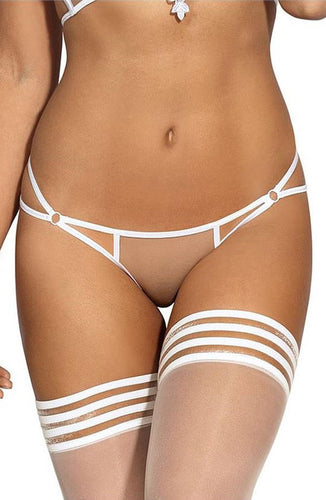ELEGANCE - Transparent knickers with white lace