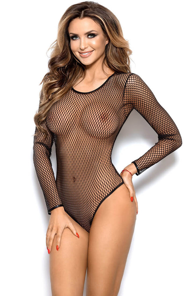 ENAMORED - Black fishnet bodysuit