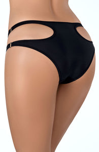 FOLLOW - Black brief panty with cut-out