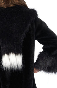 Gangster coat - Deluxe faux fur coat - Close up back