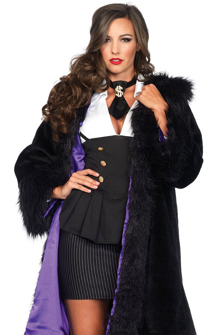 Gangster coat - Deluxe faux fur coat