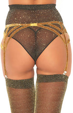Load image into Gallery viewer, Gold garter belt with shimmer