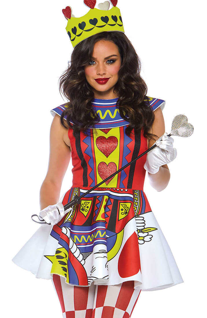 Queen of Hearts costume - Straight Flush