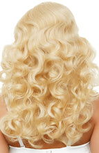 Load image into Gallery viewer, Long curly blond bombshell wig
