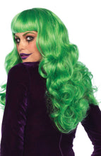 Load image into Gallery viewer, Long green wig with fringe - Joker costume for women
