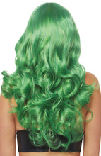 Load image into Gallery viewer, Long green wig with fringe
