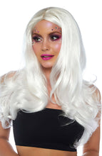 Load image into Gallery viewer, Long platinum white blond wig
