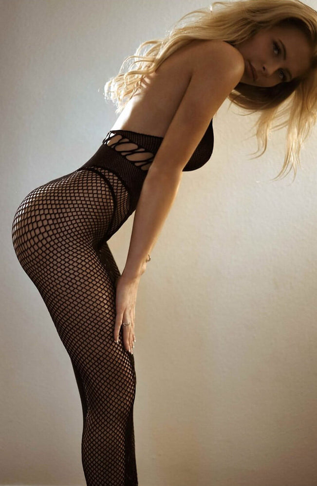 Long lingerie fishnet dress - Dual Net