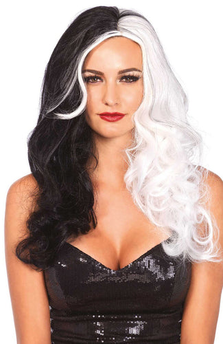 Long-haired Cruella Deville wig