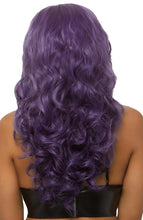 Load image into Gallery viewer, Long purple wig