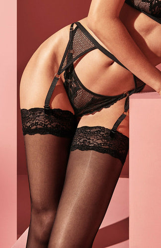 Black garter belt - London Suspender