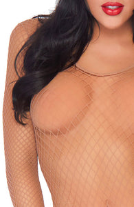 Nude fishnet bodystocking - Going Nude