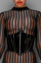 Load image into Gallery viewer, PVC underbust corset - Please Do