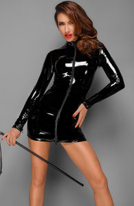 PVC dress with 2-way zip - Ask Wifey