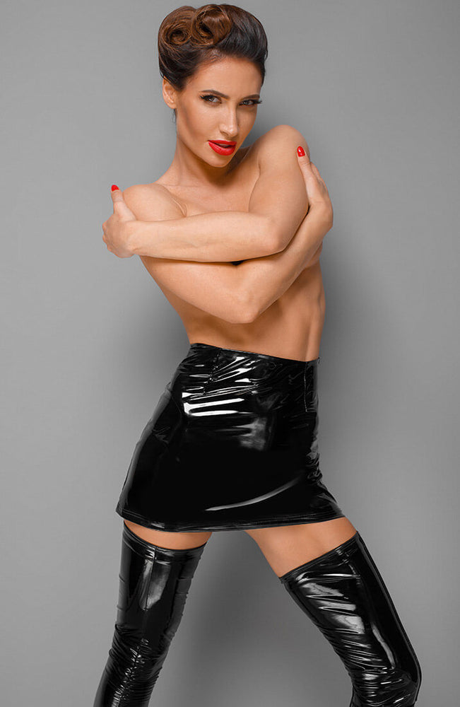 PVC mini skirt - Get Glossy