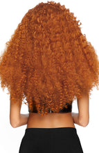 Load image into Gallery viewer, Long curly ginger wig
