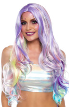 Load image into Gallery viewer, Pastel coloured wig with stripes