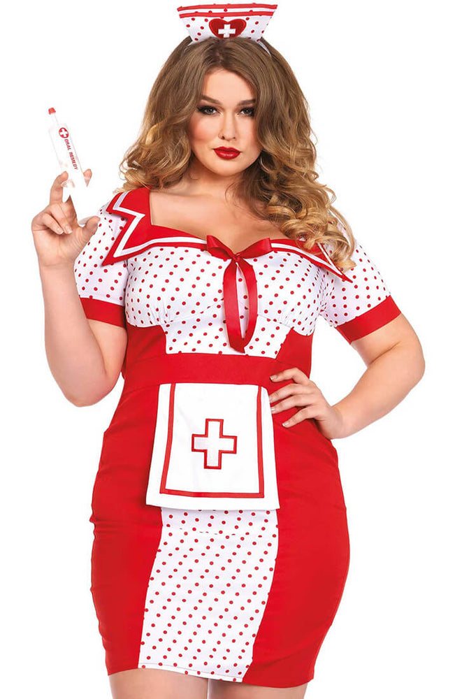 Plus Size nurse costume - Heartbeat Holly