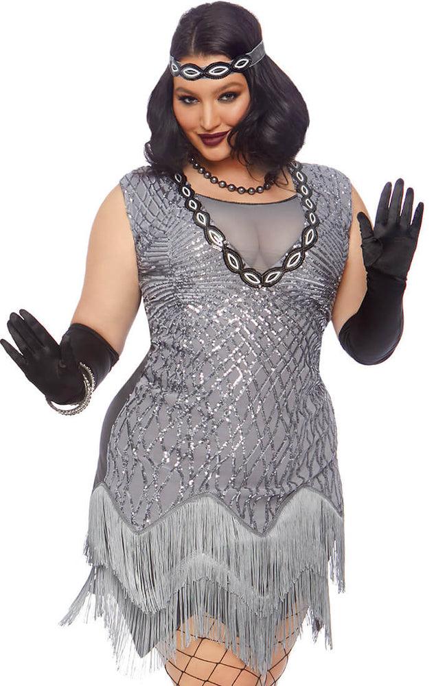 Plus Size Flapper girl costume - Roaring Roxy