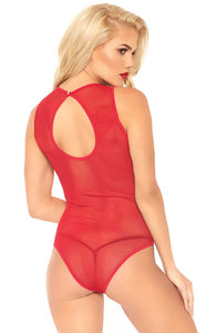 Red velvet bodysuit - Red Glam