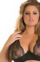 Load image into Gallery viewer, SUAVE - Black plus size shelf bra