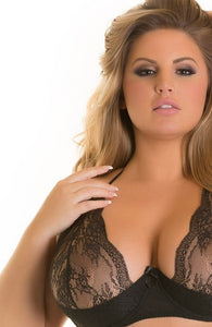 SUAVE - Black plus size shelf bra