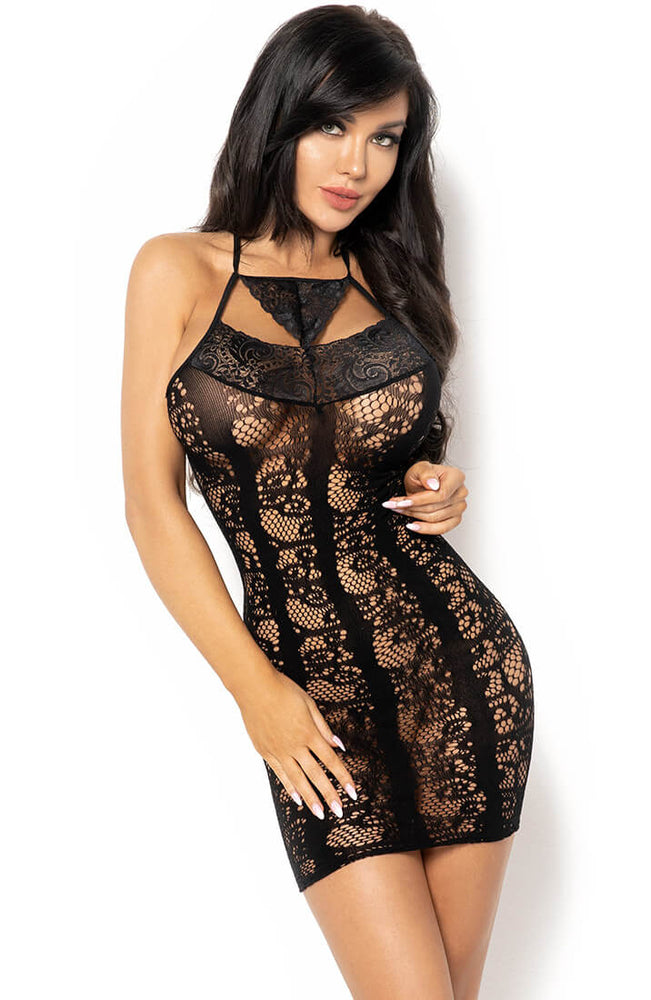 Black lace lingerie dress - Elisabeth