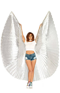 Silver 360 degree Isis wings