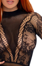 Load image into Gallery viewer, Fishnet bodysuit with snapcrotch - Independent Woman