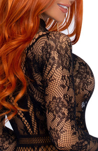 Fishnet bodysuit with snapcrotch - Independent Woman