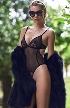 Load image into Gallery viewer, Black bodysuit with pearl string - Kyoto Body