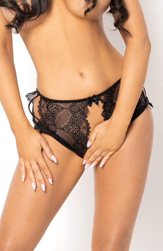 Black crotchless panty - Polly Panty
