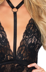 Black chemise with choker - Pure Passion